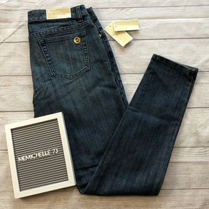 Michael Kors Womens Sz 8 Izzy Skinny Blue Jeans